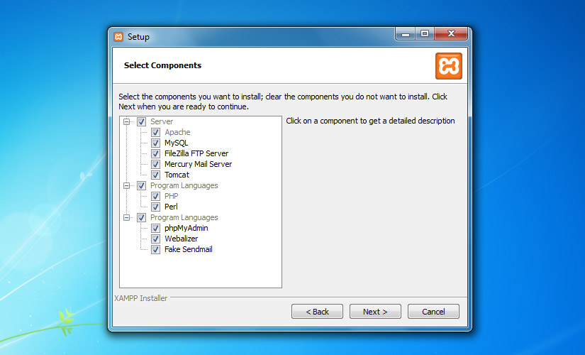Select Components( all components selected)
