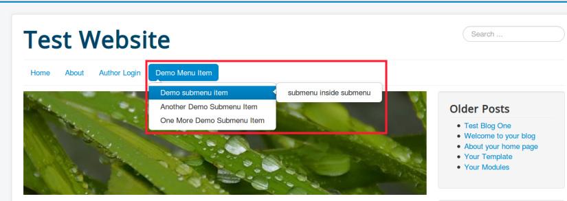 Displaying submenu inside submenu