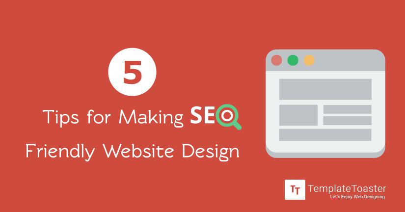 5 tips for making SEO friendly website design