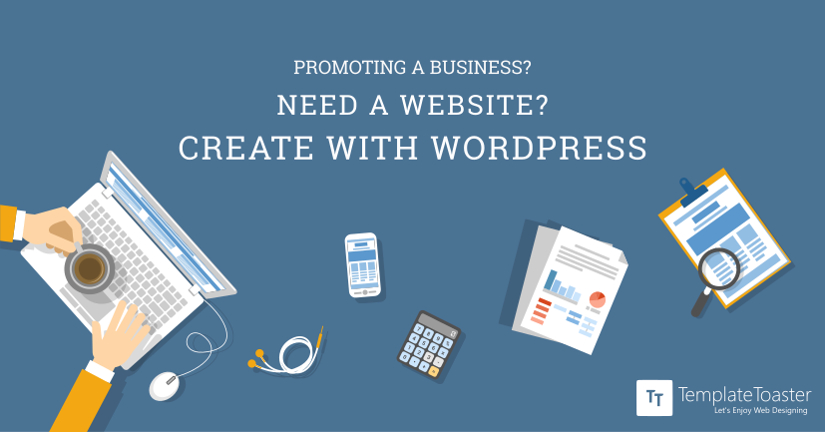 Promoting a Business, Need a Website, Create with WordPress