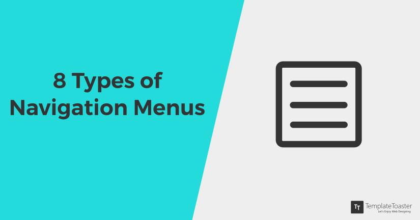 8 Types of navigation menus