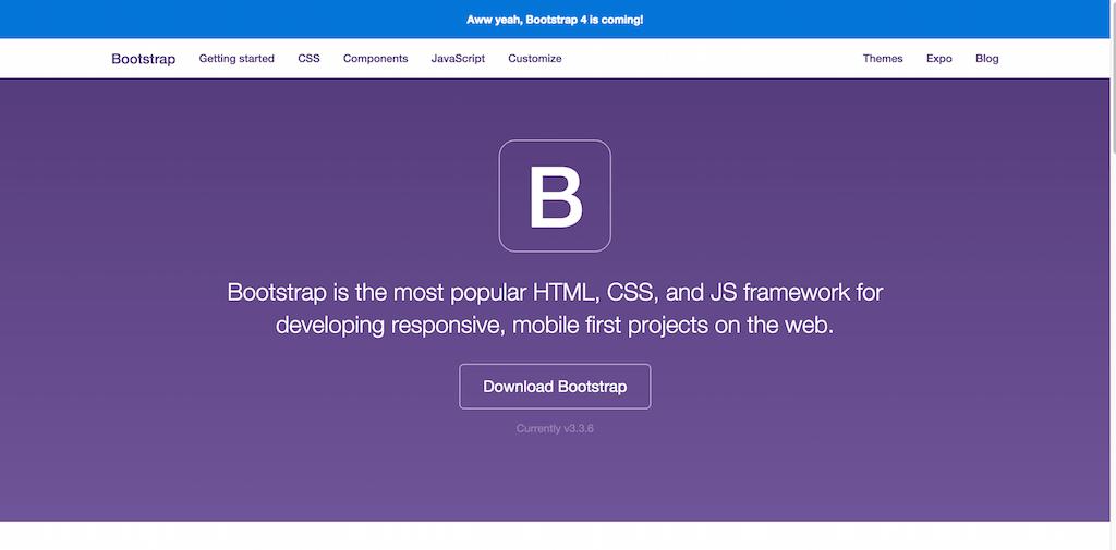 bootstrap responsive design framework