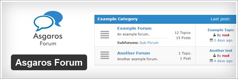 asgaros forum plugin wordpress