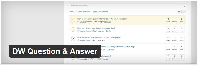 dw question answer forum plugin wordpress