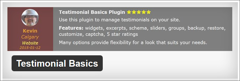 testimonial basics WordPress testimonial Plugin