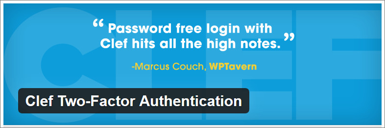 Clef WordPress Two-Factor Authentication plugin