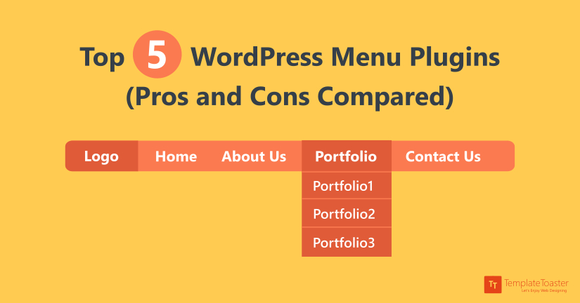 Top 5 WordPress Menu Plugins (Pros and Cons Compared) blog image