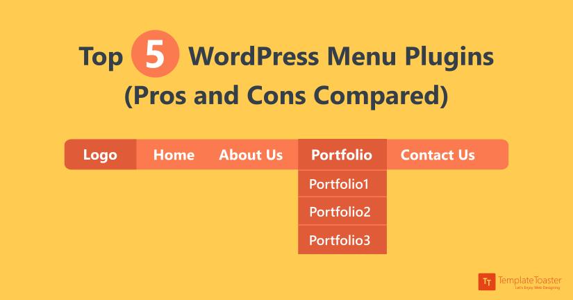 Top 5 WordPress Menu Plugins (Pros and Cons Compared) blog image