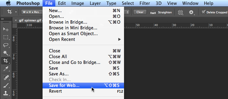 save for web photoshop seo friendly images screenshot