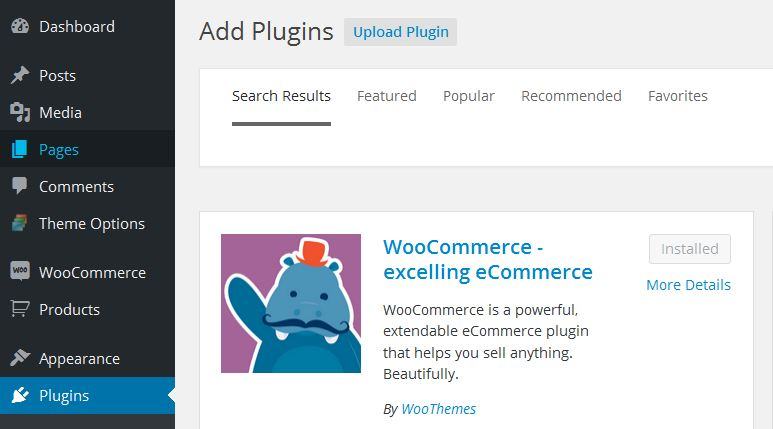 WooCommerce Plugin Install