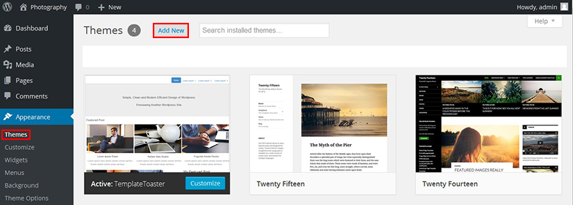 Install Theme in WordPress