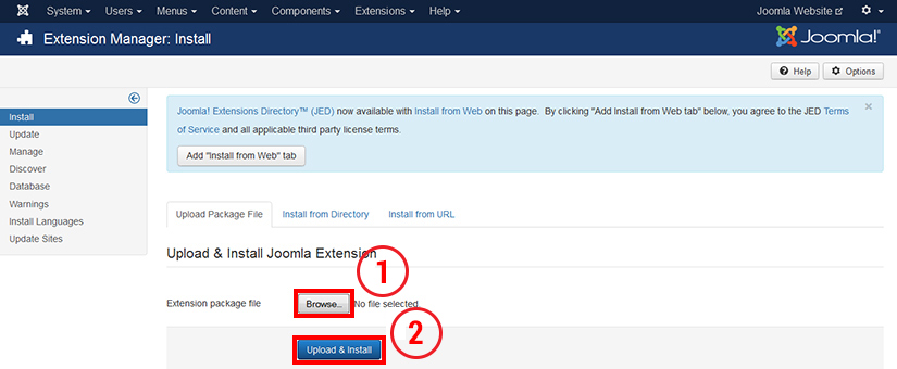How to install template in Joomla 3.4