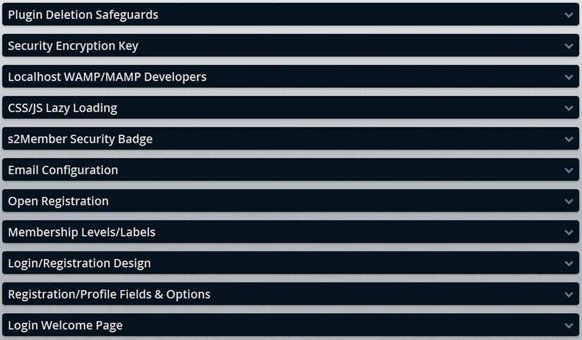 S2 Member Framework options