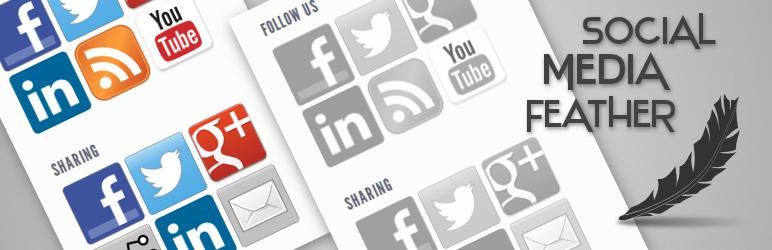 Social Media Feather banner WordPress Social Media Plugins