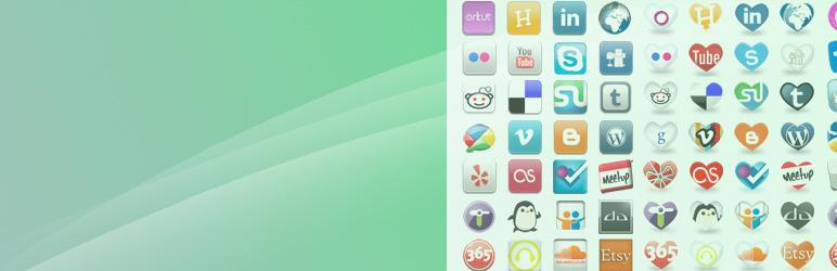 Social Media Widget banner WordPress Social Media Plugin