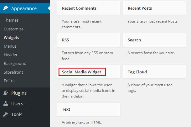 Social Media Widget WordPress Social Media Plugin