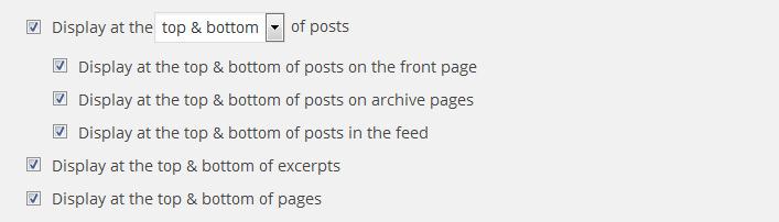 Social media buttons placement options WordPress Social Media Plugin