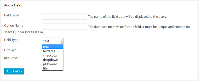 WP Members add a custom registration field