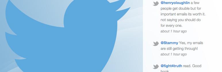Recent tweets widget