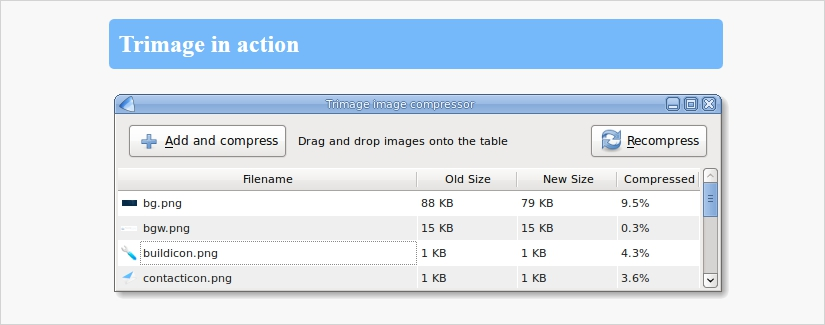 trimage image compression tool