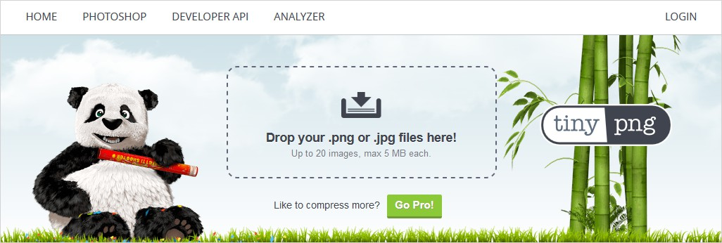 tinypng image compression tool