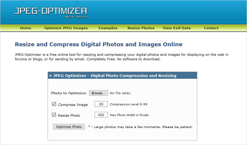 jpeg optimizer image compression tool