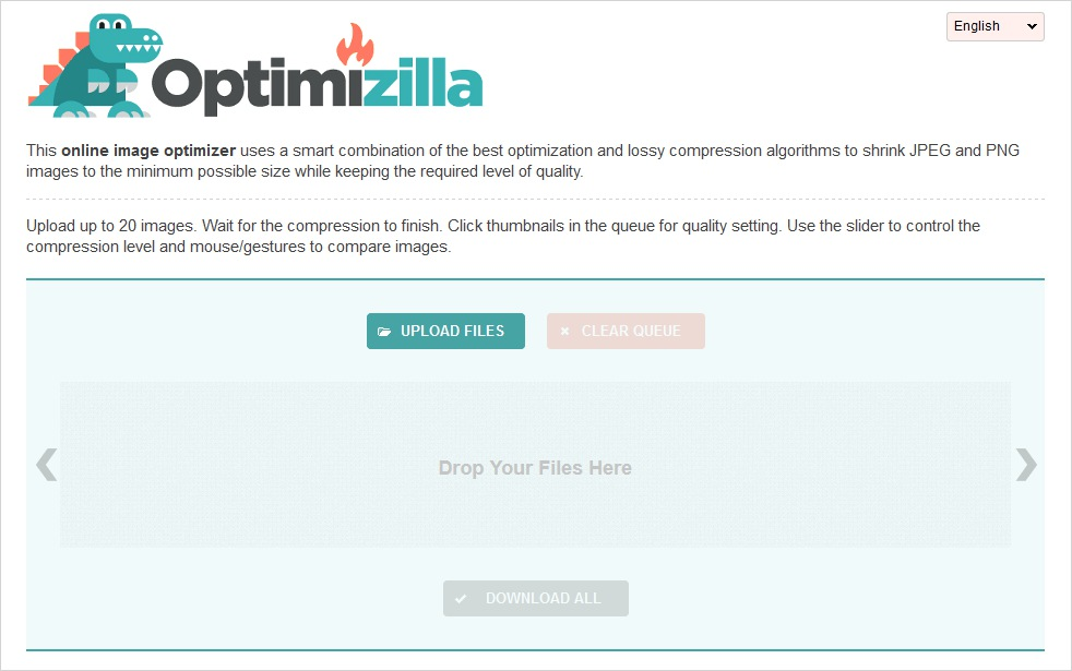 optimizilla image compression tool