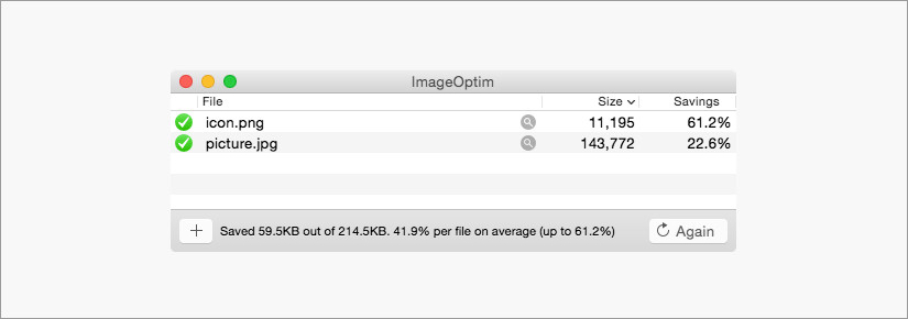 ImageOptim image compression software tool