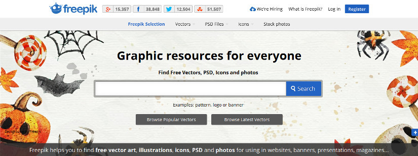20 websites to get free vector designs images and icons
