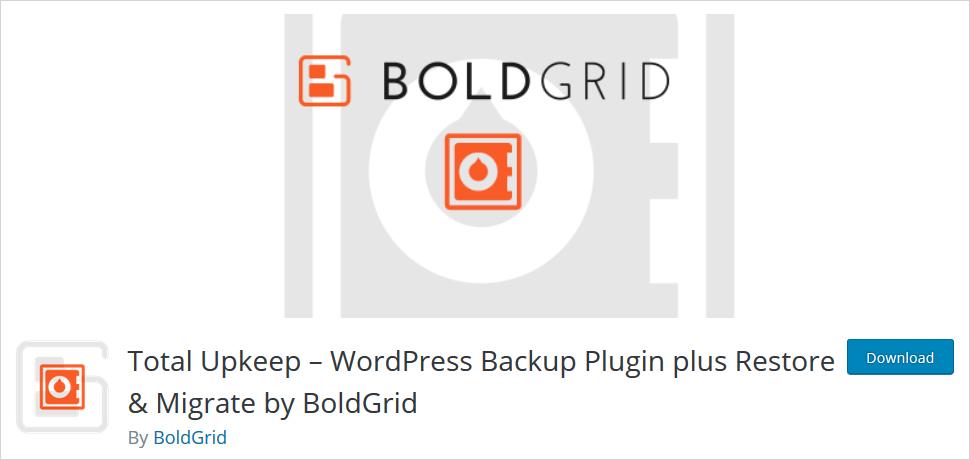 Blodgrid backup wordpress backup plugin