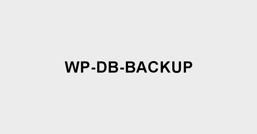 wp-db-backup for wordpress backup