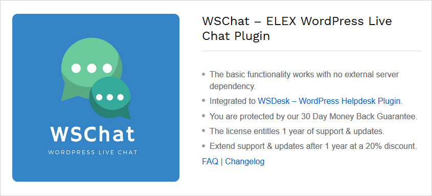 wschat wordpress plugin