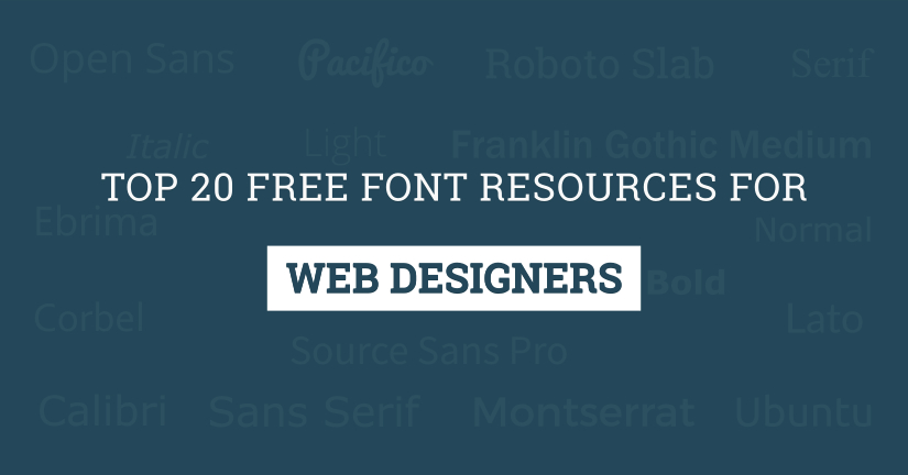 top 20 free font resources for web designers