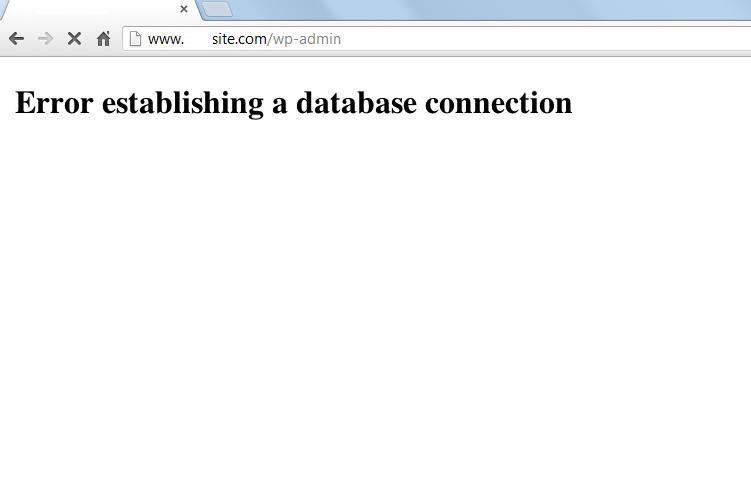 Error Establishing a Database Connection