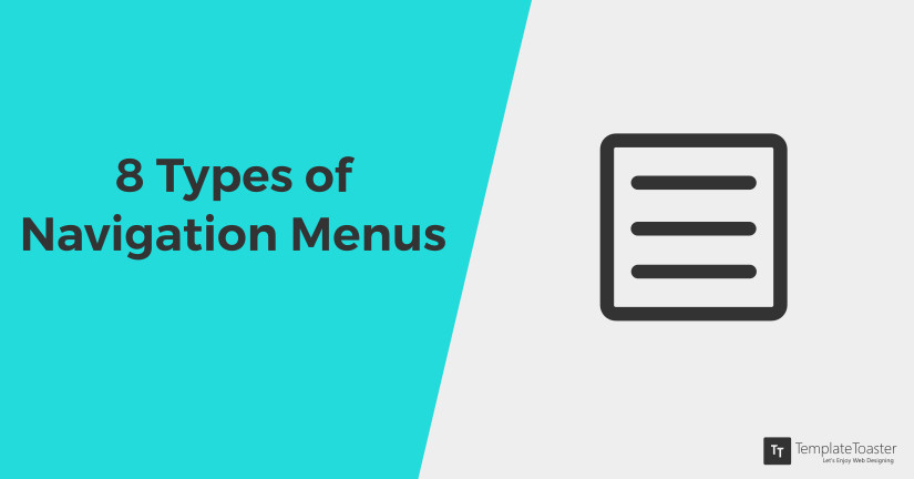 8 Types of navigation menus