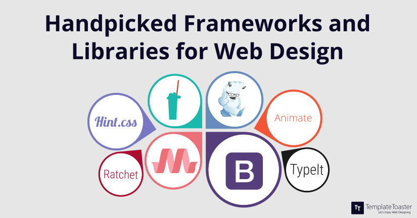 Handpicked frameworks and libraries for web design