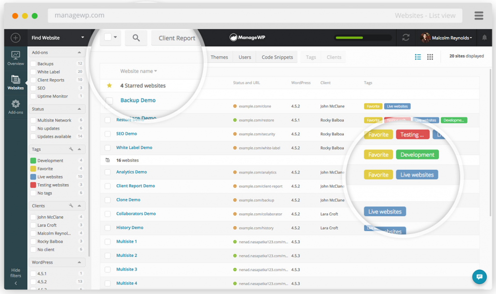 Manage WP WordPress Plugin
