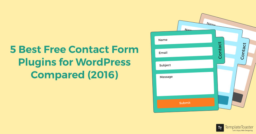 5 Best Free Contact Form Plugins for WordPress Compared (2016) blog image