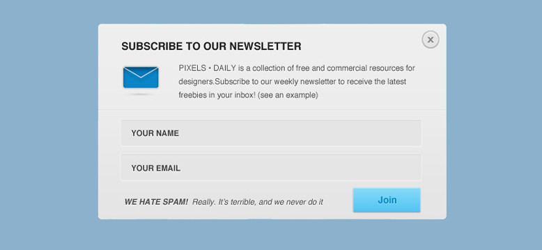 Sticky Email Signup Box in WordPress Posts