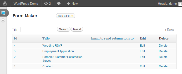 Contact Form Maker Contact Form WordPress Plugin