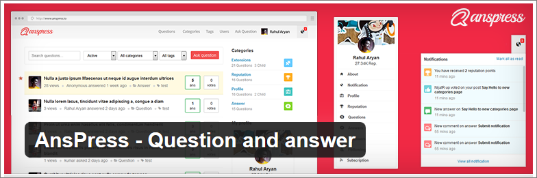 anspress question and answer forum plugin wordpress