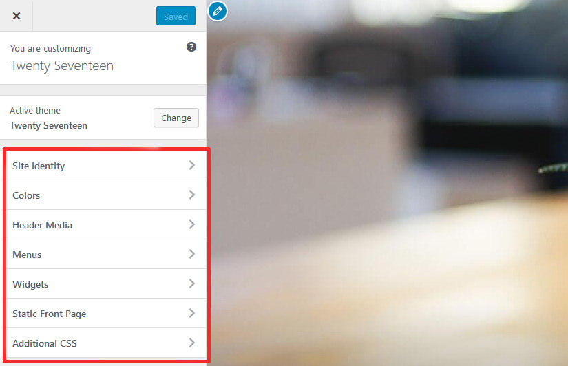 Upgraded Theme Customizer in WordPress 4.7 Update