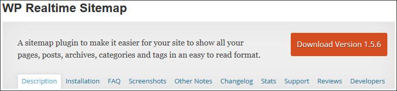 WP Realtime Sitemap wordpress plugin