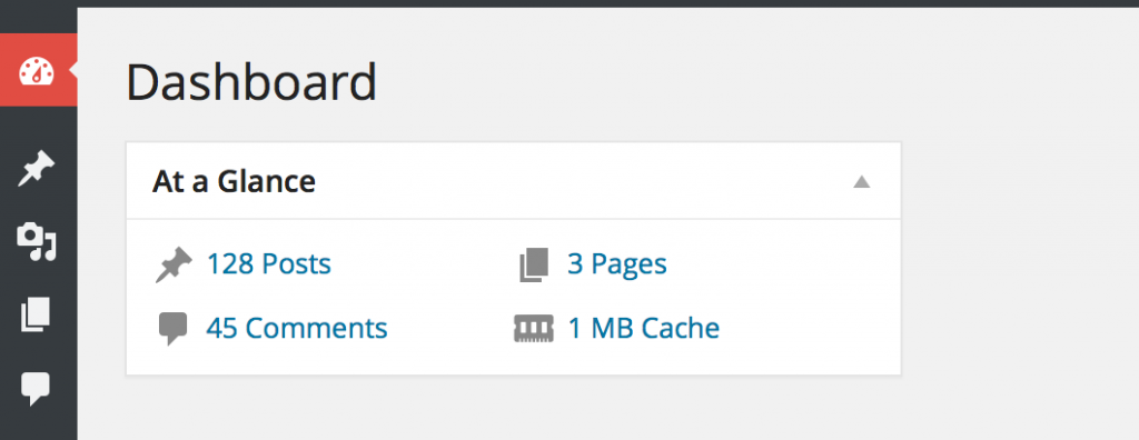 cachify wordpress cache plugin dashboard