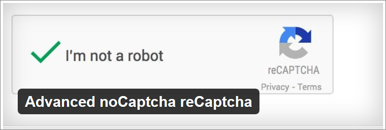 Advanced noCaptcha reCaptcha wordpress plugin