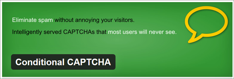 Conditional CAPTCHA wordpress captcha plugin