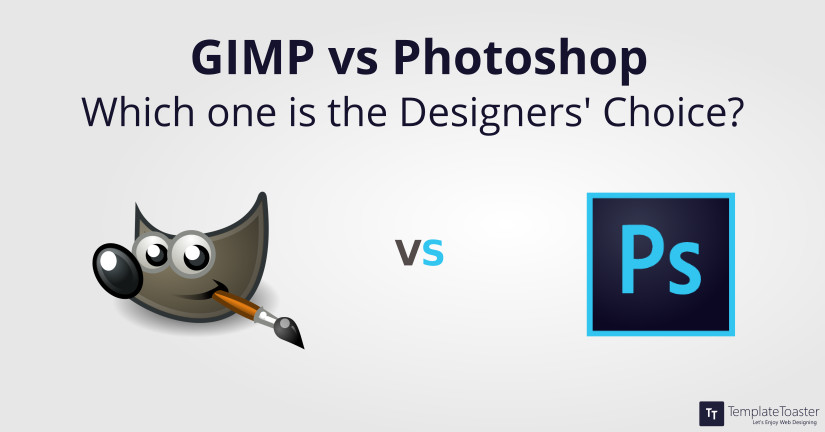 Gimp vs Photoshop Blog image