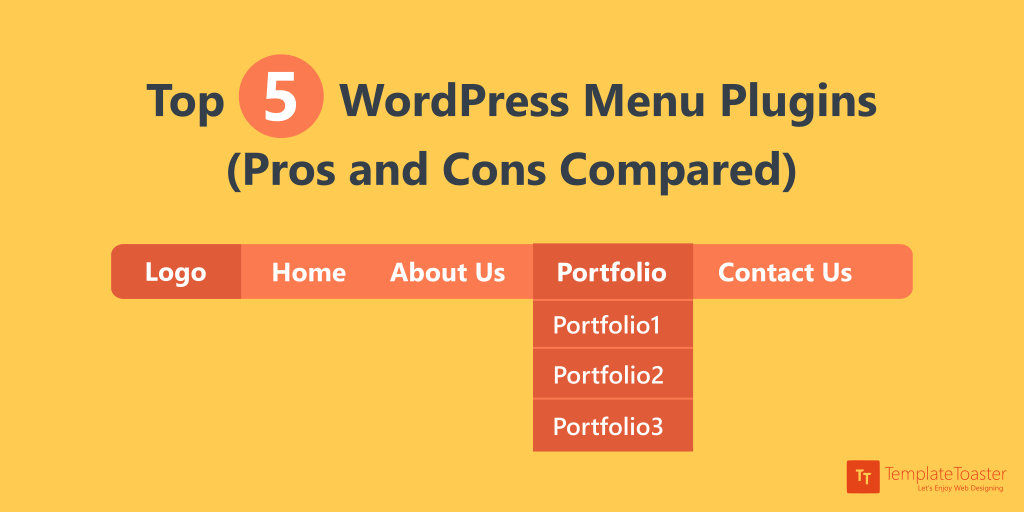 Top 5 WordPress Menu Plugins Pros And Cons Compared Twitter Image