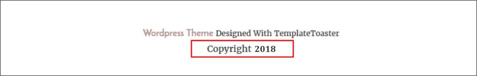 Auto Update Copyright Year using wordpress plugin