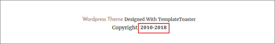 Updating copyright on websites